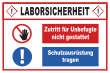 Betreten verboten #Schild -218#- Laborsicherheit