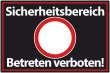 Betreten verboten #Schild -546#- Sicherheitsbereich
