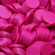 Chips D=30mm Blank NEON-PINK