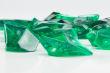 Gramm Deko Steine aus Kunststoff Gramm GRÜN - Transparent