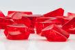 Gramm Deko Steine aus Kunststoff Gramm ROT - Transparent
