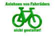 Fahrrad Schild -5330#- nicht gestattet
