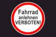 Fahrrad Schild -5335#- Verkehrszeichen
