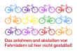 Fahrrad Schild -5338#- Bunte räder