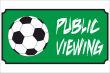 Gastronomie Public Viewing #Schild -160#- Gruen mit Fussball