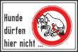 Hundeschild# -13#- hier nicht