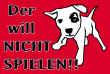 Hundeschild# -712#- Spielen