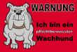 Hundeschild# -721#- Bulldogge Grau