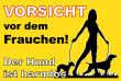 Hundeschild# -722#- Frauchen