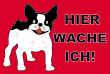 Hundeschild# -726#- Bulldogge-Klein