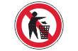 Müll abladen verboten #Schild -181#- Müll Symbol