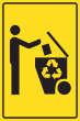 Müll abladen verboten #Schild -183#- Recycling Tonne