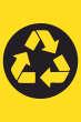 Müll abladen verboten #Schild -184#- Recycling Symbol