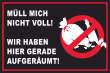 Müll abladen verboten #Schild -189#- Nicht vollmüllen