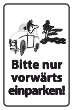 Nicht rückwärts einparken #Schild -574#- Comic