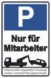 Parkverbot #Parken verboten Schild Schilder -33#- Nur für Mitarbeiter