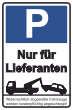 Parkverbot #Parken verboten Schild Schilder -34#- Nur für Lieferanten