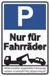 Parkverbot #Parken verboten Schild Schilder -39#- Nur für Fahrräder