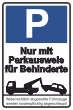 Parkverbot #Parken verboten Schild Schilder -40#- Nur für Behinderte