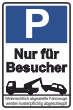 Parkverbot #Parken verboten Schild Schilder -42#- Nur für Besucher