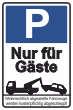 Parkverbot #Parken verboten Schild Schilder -45#- Nur für Gäste