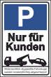 Parkverbot #Parken verboten Schild Schilder -47#- Nur für Kunden