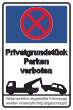 Parkverbot #Parken verboten Schild Schilder -54#- Privatgrundstück