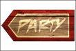 Party #Schild -226#- Party Pfeil