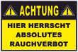 Rauchen verboten #Schild -81#- Absolutes Rauchverbot
