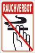 Rauchen verboten #Schild -87#- Rauchverbot - Hochformat