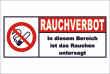 Rauchen verboten #Schild -88#- Rauchen untersagt