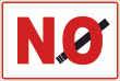 Rauchen verboten #Schild -91#- NO Zigarette
