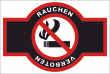 Rauchen verboten #Schild -93#- Rauchen verboten Emblem