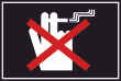 Rauchen verboten #Schild -98#- Hand mit Zigarette
