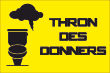 WC / Toiletten #Schild -108#- Thron des Donners