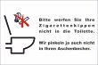 WC / Toiletten #Schild -111#- Keine Kippen