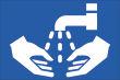 WC / Toiletten #Schild -113#- Hände Waschbecken