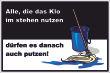 WC / Toiletten #Schild -117#- Wischmob