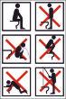 WC / Toiletten #Schild -119#- Toilette richtig benutzen