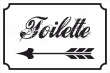 WC / Toiletten #Schild -122#- Toilette links