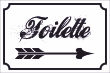 WC / Toiletten #Schild -123#- Toilette rechts