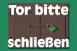 Tür / Tor #Schild -1568#- Eisentor