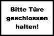 Tür / Tor #Schild -1573#- Türe weiss