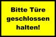 Tür / Tor #Schild -1575#- Türe gelb