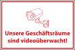 Videoüberwachung #Schild -63#- Geschäftsgebäude