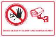 Videoüberwachung #Schild -69#- Objekt