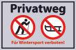 Winter Winterdienst #Schild -648#- Wintersport verboten